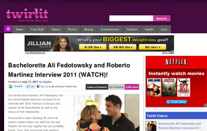 Bachelorette Ali Fedotowsky and Roberto Martinez Interview 2011 (WATCH)!