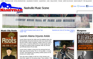 Lauren Alaina Injures Ankle